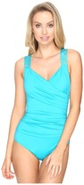 Jantzen Solids Novelty Shoulder Draped Surplice One-Piece