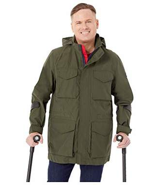 Tommy Hilfiger Men's Adaptive Modular Jacket Water Repellant with Magnetic Zipper