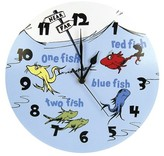 Trend Lab Dr. Seuss One Fish Two Fish Clock