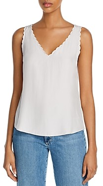 Rebecca Taylor La Chemise Scalloped Silk Tank Top