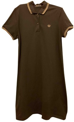 Fred Perry Black Cotton Dress for Women