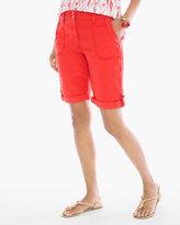 Chico's Casual Utility Shorts 10 inch inseam in Garibaldi Orange