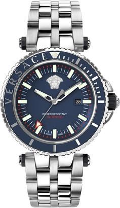 Versace Men's V-Race Diver Watch, 46mm