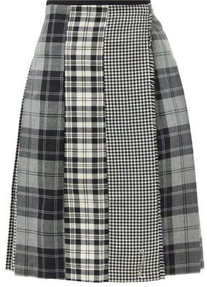 Le Kilt Mix And Match 03 Pleated Tartan Wool Kilt - Grey