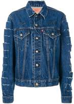 R 13 slashed denim jacket