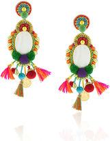 Ranjana Khan Multi Pom Pom Clip-On Earrings