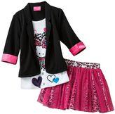 Hello Kitty mock-layer blazer and cheetah scooter set - girls 4-7