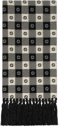 Gucci G check wool scarf