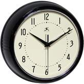 Infinity Instruments Retro Metal Wall Clock in Black