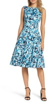Maggy London Women's Blossom Bunch Fit & Flare Dress