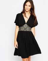 Traffic People Carpet Baggers Lucian Dress With Jacquard Detail