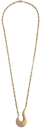 Marni curved pendant necklace