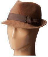 San Diego Hat Company CTH3718 Faux Wool Felt Fedora with Grosgrain Bow & Band