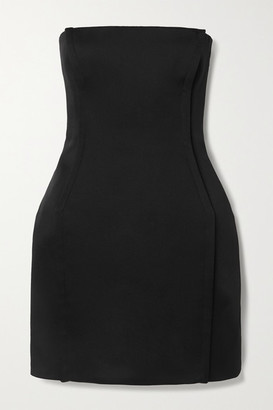 Versace Strapless Crepe Mini Dress - Black