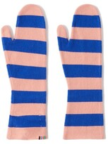 Thumbnail for your product : Extreme Cashmere Nina Striped Cashmere Mittens - Pink Multi