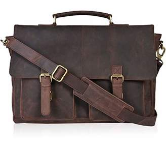 Clifton Heritage Laptop Messenger Bag - Big Strap Leather Briefcases for Men