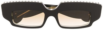 Gucci Crystal-Embellished Rectangle Sunglasses