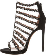 Alaia Stud-Embellished Cage Sandals