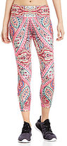Nanette Lepore Play Active Paisley Print Knit Smooth Capri Pant