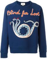 Gucci Blind For Love sweatshirt - men - Cotton - L