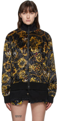 Versace Jeans Couture Black Shield Print Jacket