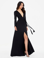 Halston Jersey Gown With Tie
