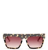 L.A.M.B. Women&s Full Rim Square Shape Sunglasses