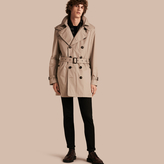 Burberry Cotton Trench Coat with Detachable Hood , Size: XL, Beige