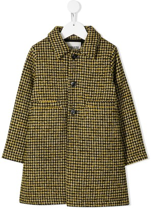 Touriste Single-Breasted Houndstooth Coat