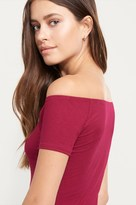 Dynamite Ribbed Off-The-Shoulder Tee