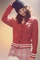 Wildfox Couture A True Star Schoolhouse Cardigan in Fox Fur