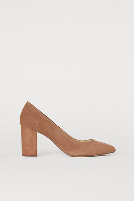 H&M Suede court shoes