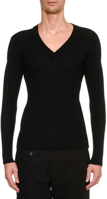 Dolce & Gabbana Men's Knit V Neck Sweater