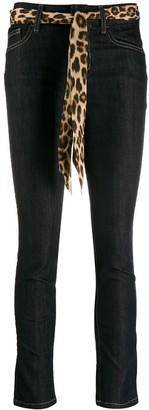 Liu Jo slim fit jeans with leopard print belt