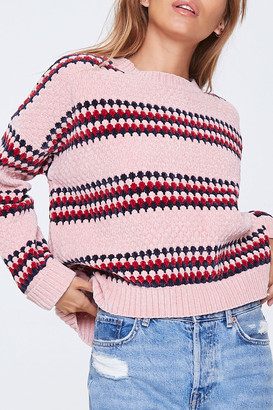 Forever 21 Striped Chenille Sweater