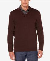 Perry Ellis Men's Lightweight Shawl-Collar Sweater