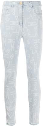 Elisabetta Franchi High-Waisted Skinny Jeans
