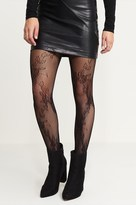 Dynamite Floral Fishnet Tights