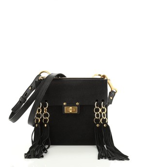 Chloé Jane Crossbody Bag Leather and Suede Small