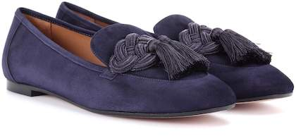 Aquazzura Legend suede loafers