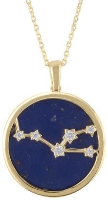Latelita Zodiac Lapis Lazuli Gemstone Star Constellation Pendant Necklace Gold Taurus
