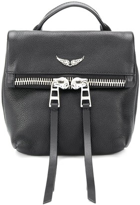 Zadig & Voltaire Romy logo plaque backpack