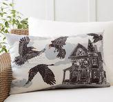 Pottery Barn Haunted Crow Indoor/Outdoor Lumbar Pillow