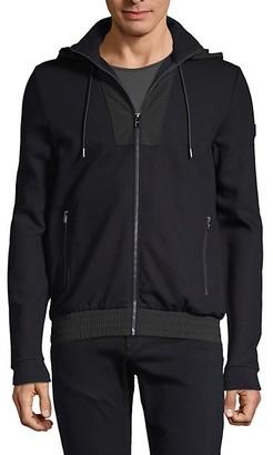 HUGO BOSS Hooded Cotton-Blend Jacket