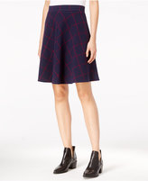 Maison Jules Windowpane A-Line Skirt, Only at Macy's