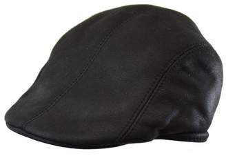 Black Brown 1826 Genuine Double-Face Shearling Duckbill Ivy Cap