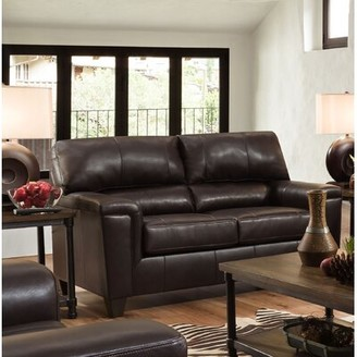 """Red Barrel Studio Thy 65"""" Square Arm Loveseat Upholstery Color: Soft Touch Bark"""