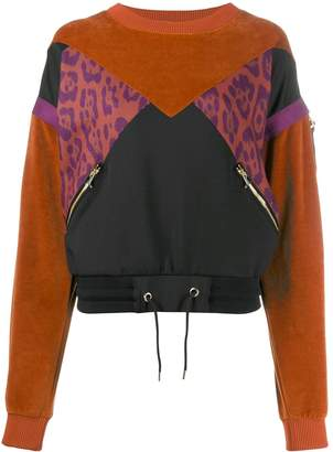 Just Cavalli contrast panelled jumper