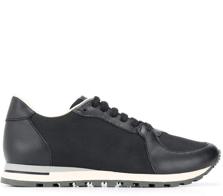 Canali tone on tone mesh sneakers