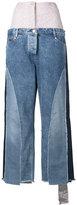 Natasha Zinko oversized patchwork jeans - women - Cotton/Polyamide - 34